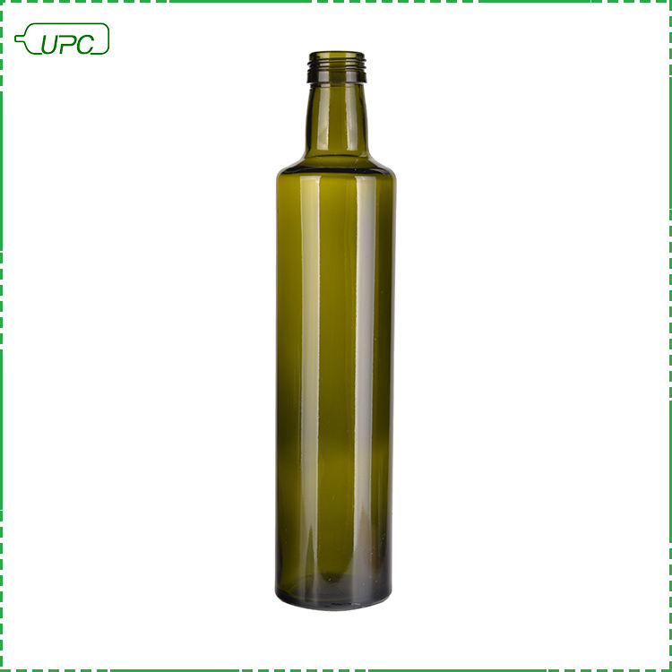 Wholesale 500ml round green glass olive oil bottle