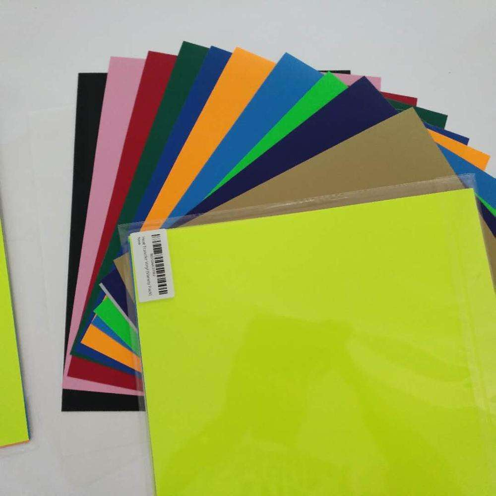 Heat Transfer Vinyl for Clothing Easy Weeding Assorted Colors 20 Sheets 12