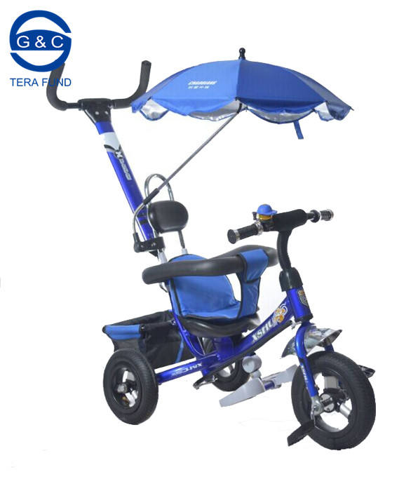 Children Tricycle Trikes/Steel Iron Frame Kids Smart pedal with umbrella
