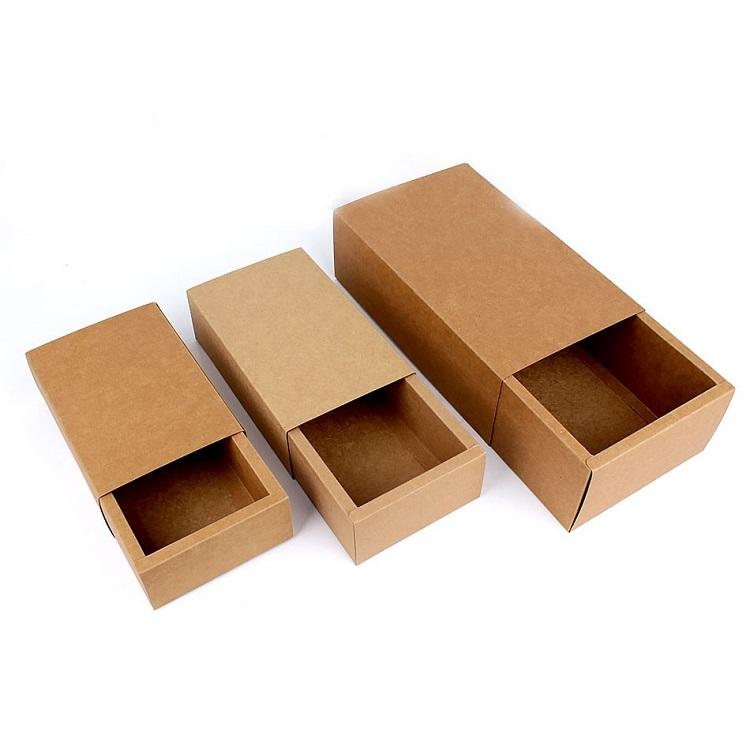 kraft cardboard postal mailer packaging drawer box paper slide boxes wholesale drawer box kraft