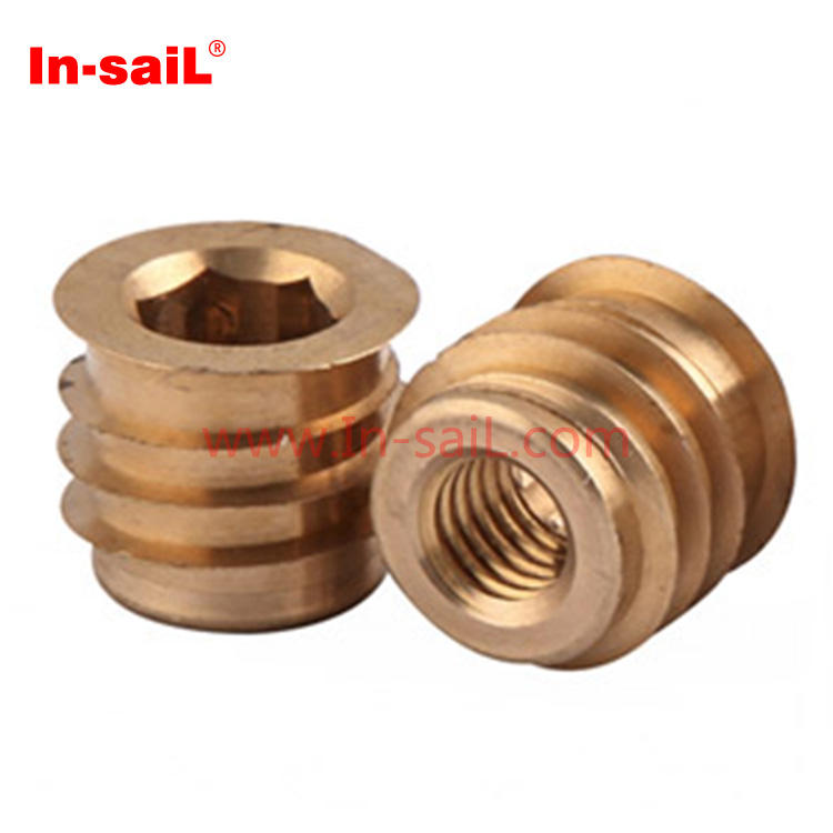 pack of 50 Insert nut threaded insert anchor for wood /& chipboard M6 x 20mm