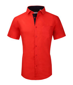 OEM Custom 100% Cotton Short Sleeve Height Quality Men's Business Dress Shirt egyptian cotton dress shirts