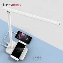 2019 trending amazon desktop led lamp for home led light night lamp reading lamp with wireless charger USB charger