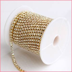 Losse flat terug fancy cup chain rhinestones china professionele leverancier, strass cup keten trimmen 10 YARDS ELKE ROL