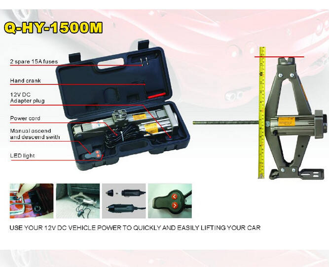 Q-HY-1500M(023) New Arrival Electric Scissor Jack and Impact Wrench auto jack ( GS,CE,EMC,E-MARK, PAHS, ROHS certificate)
