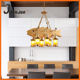 Wood Loft E27 Chandeliers For Bar/cafe American Country Style Lamp Modern Pendant Lights Art Metal Home Decoration