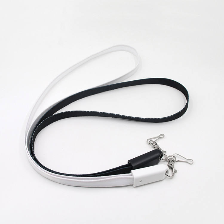 Wholesale 2019 best promotional gifts nylon braided multi usb cable lanyard 3 in 1 for iPhone, data function for option
