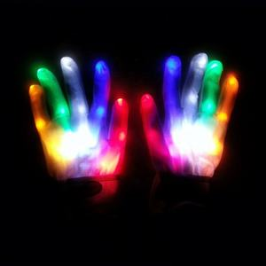 ¡Venta al por mayor! Guantes luminosos Con luz intermitente para halloween