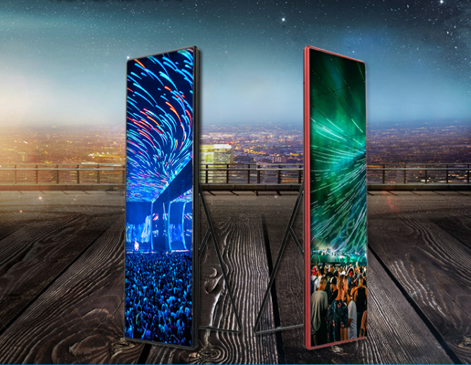 Iklan LED Ponsel Billboard Floor Standing LED Layar P2.5 LED Standee Display China TV LED untuk Dijual