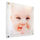square clear acrylic sexy sandwich photo frames wall mount