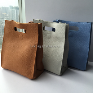 Fashion Design PU Hand Bag with Simple Design and High Quality