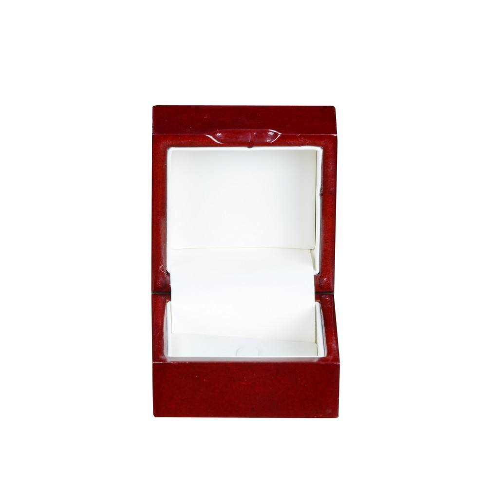 Fancy MDF Wood Packaging Box For Jewelry Solid Color Case