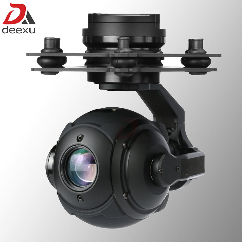 Lichtgewicht 365g 3 Axis Drone Gimbal Camera 10x zoom 1080 P HD UAV Camera