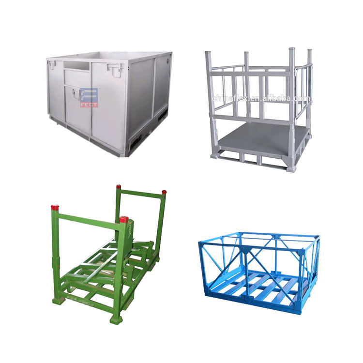 Powder Coating Steel Wire Mesh Pallet Box/crate (l1214*w1013 Mm/oem)