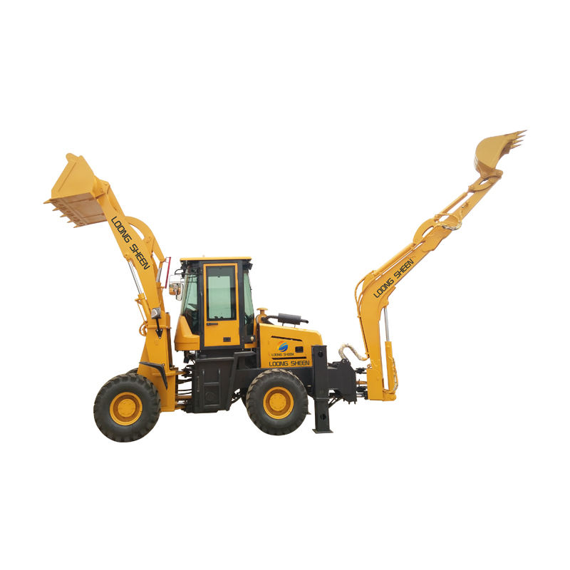 LX30-25 Backhole Loader พร้อม 0.25m3 ถัง 1.2m3 Backhoe Loader