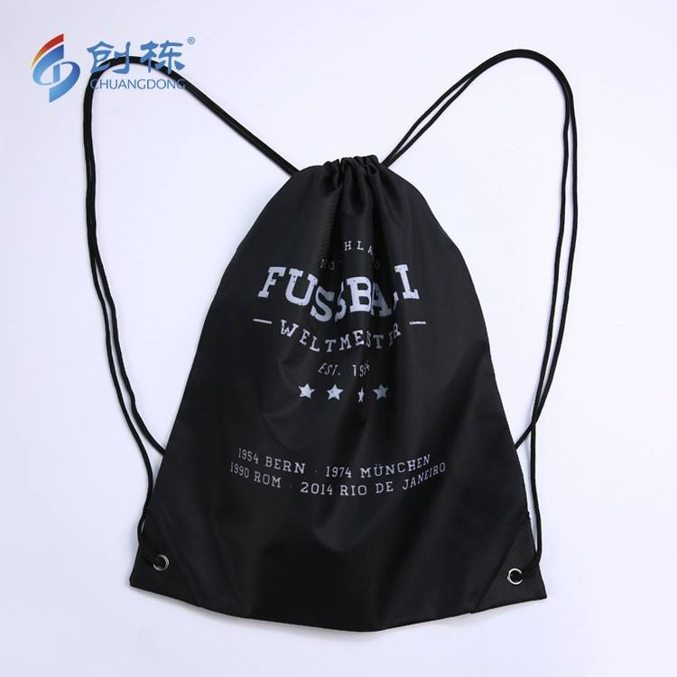 Free sample backpack draw string shopping bag with custom logo