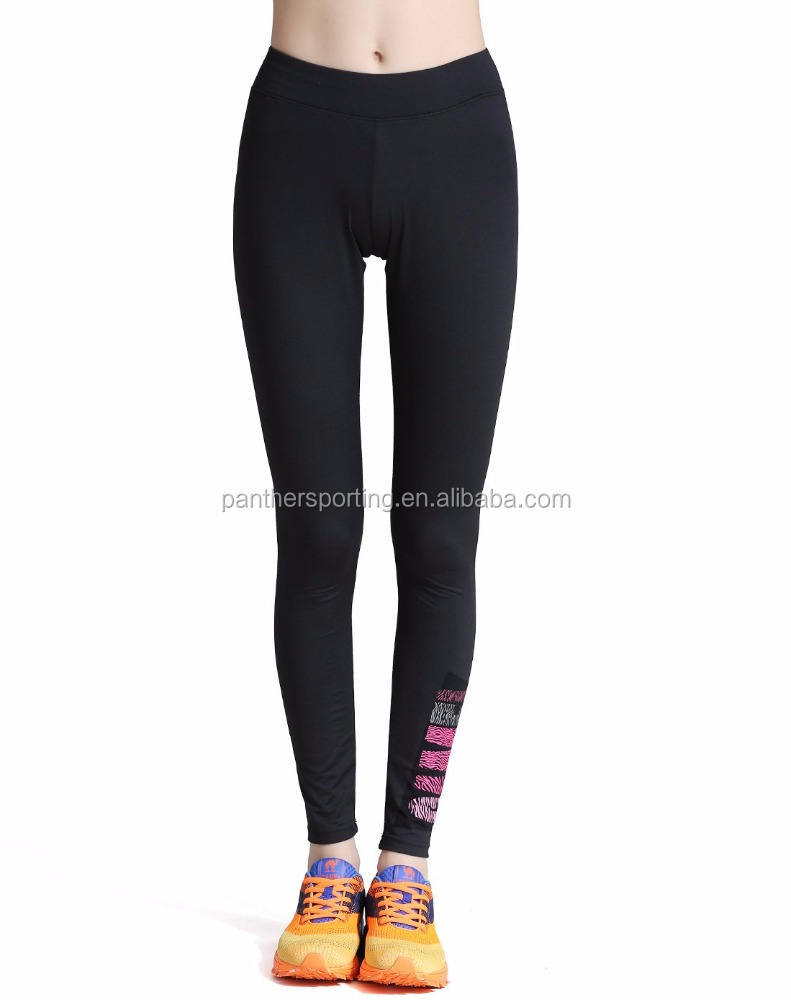 Collant Donna Leggings Pantaloni di Yoga Leggings Pianura Nero Leggings
