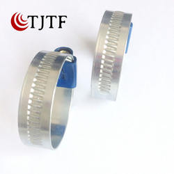 Worm gear non perforated British hose clamp