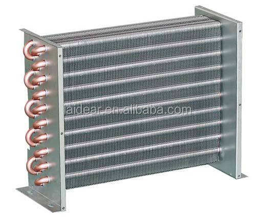 Aluminum Tube and Fin HVAC Condenser Treated With Powder Coating Prevent Corrosion