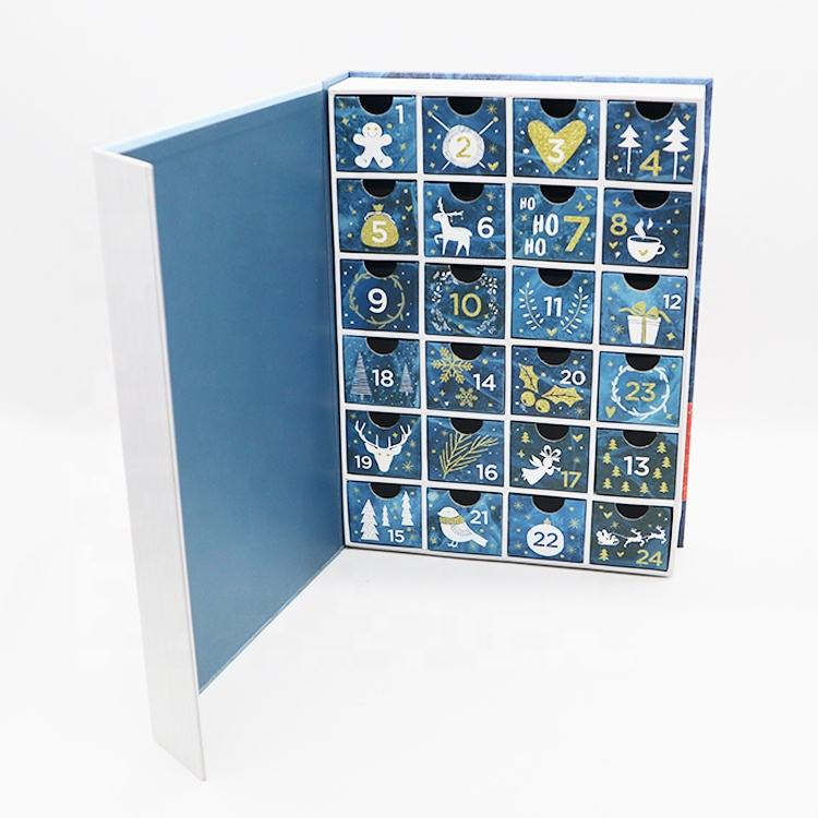 Christmas Handmade Magnetic Paper Drawer Ramadan Advent Calendar Cardboard Packaging Box