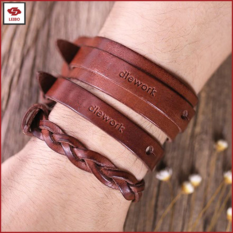 family leather bracelets not allergic bangle men genuine leather wristband women cowhide leather cuff