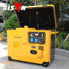 Bison 5kw 5kva 186F Diesel Generator Price 3 Phase Diesel Engine Small Super Silent Electric Power Portable Diesel Generator Set