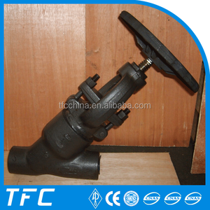 Pressure Y type bellow seal globe valve factory price