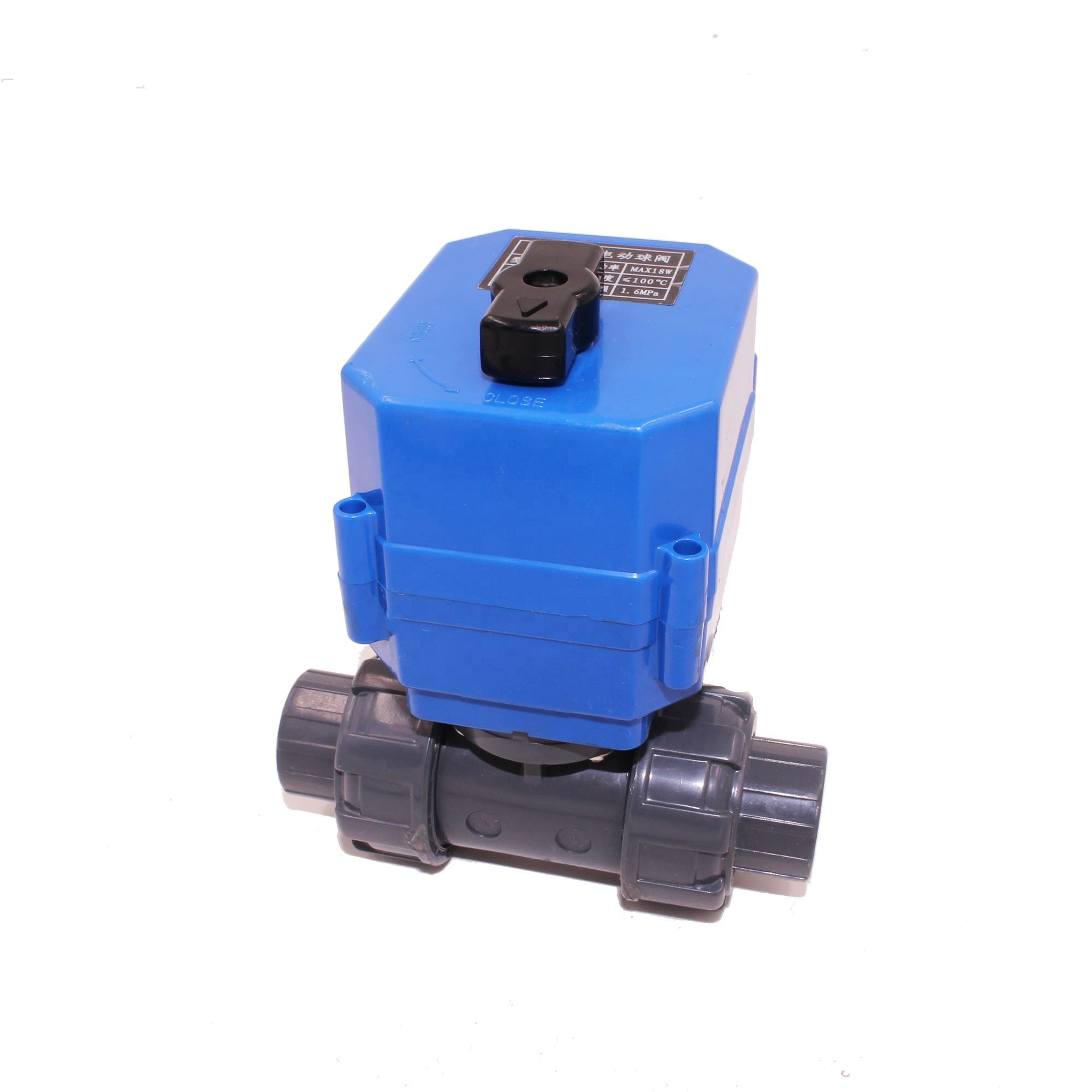 "Power Off Auto Return G3/4"" DN20 DC12V 24V 2ways Plastic Ball Motor Operated Drive Valve Electric Actuator For Water Treatment"
