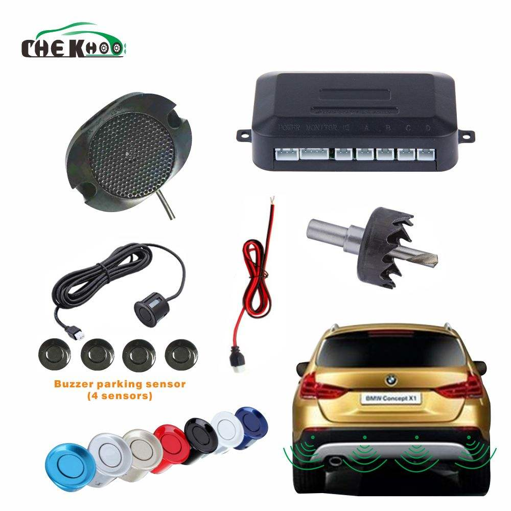 Auto Auto Parktronic Buzzer <span class=keywords><strong>Parking</strong></span> <span class=keywords><strong>Sensor</strong></span> Met 4 <span class=keywords><strong>Sensor</strong></span> Reverse Backup Voertuig Radar Monitor Detector System Backlight Display