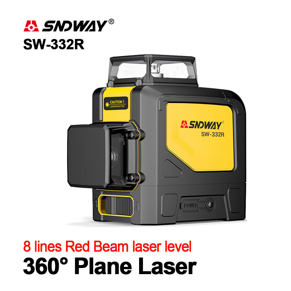SNDWAY Laser Levels 360 Green Level 3D Self Leveling Vertical Horizontal Rotary Lasers 8 lines Leveler SW-332R