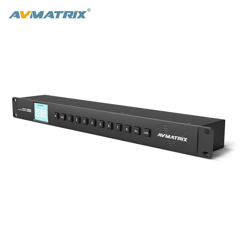 AVMATRIX 1RU 8x8 3G-SDI matriz SWITCHER
