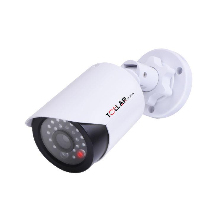 Night CCTV Surveillance System Flashing Red Light Dummy Security Camera With Realistic Look Recording LEDs