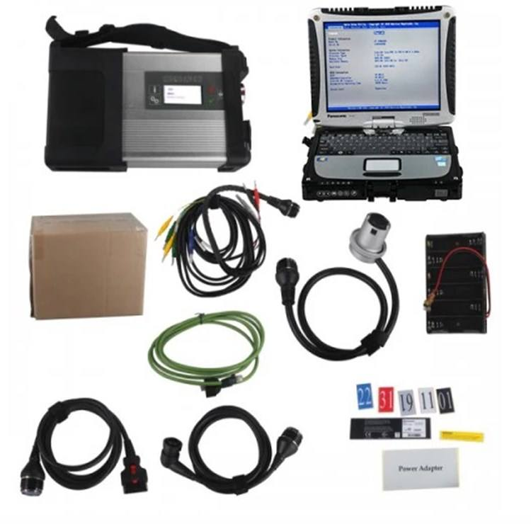 MB SD C5 Connect Compact 5 Star auto diagnostic tool scanner with Panasonic CF19