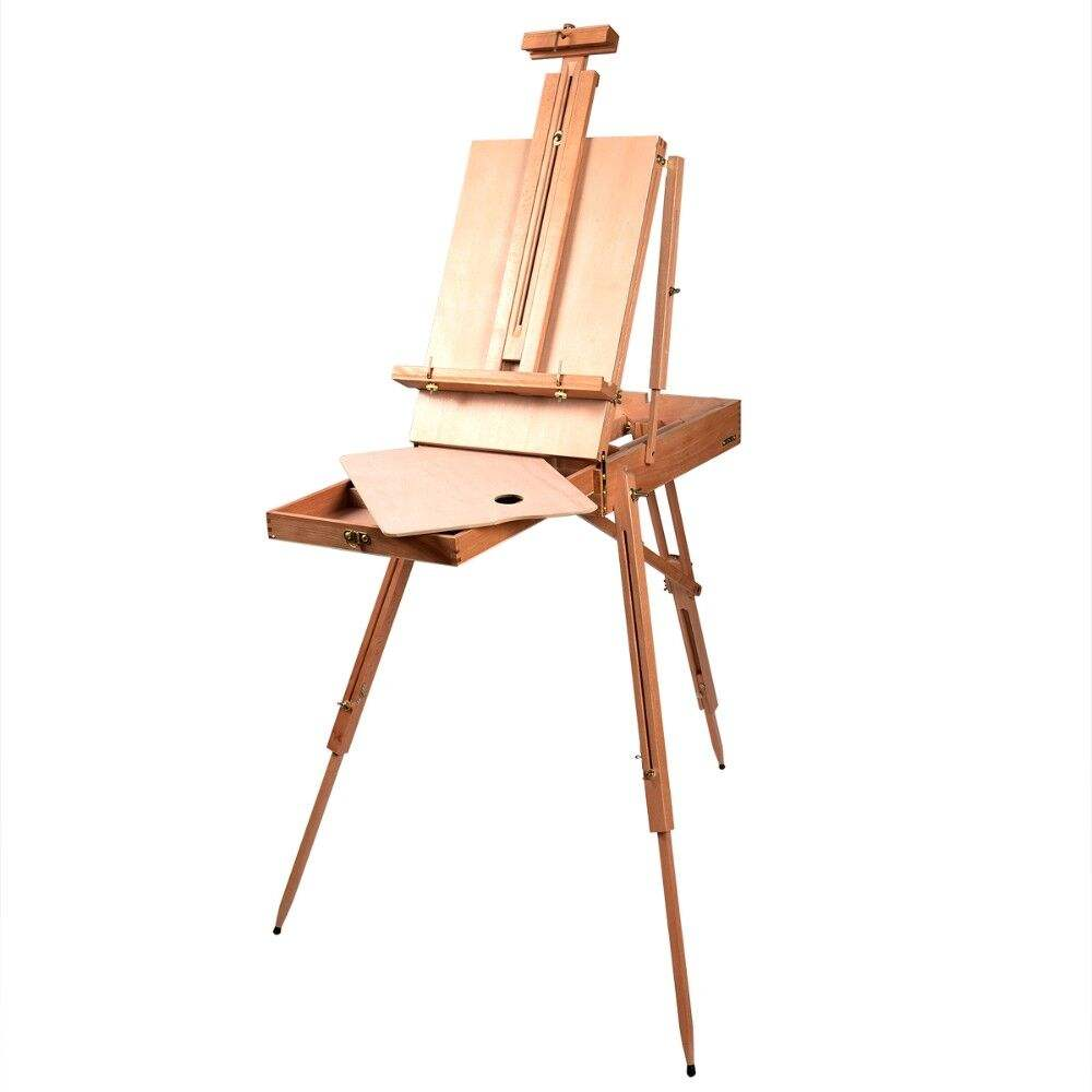 French Easel Artist Wooden Paint easel box Sketch Box Portable Folding Durable Display Easel