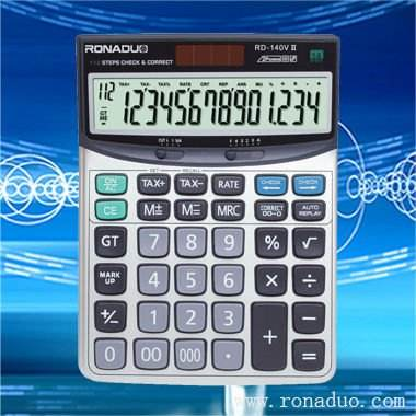 Calculadora casio mesmo modelo rd-140vii 14- dígitos calculadora de desktop! Calculadora eletrônica