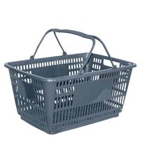 wholesale custom grey baskets plastic retail store shopping baskets supermarket with handle