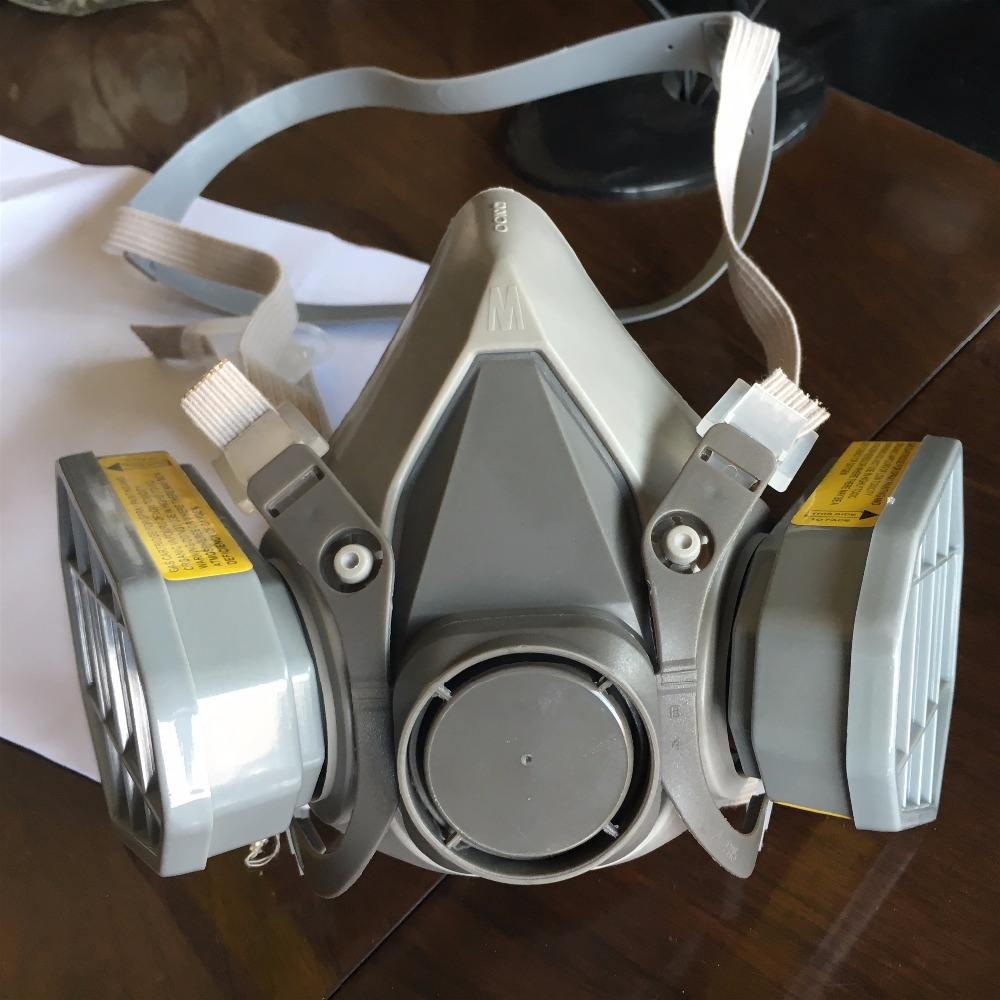 2016 best selling 6200 half face gas mask chemical half face gas mask for sale
