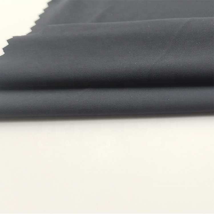 High elastic soft spandex polyester dry fit cool touch feeling single jersey fabric