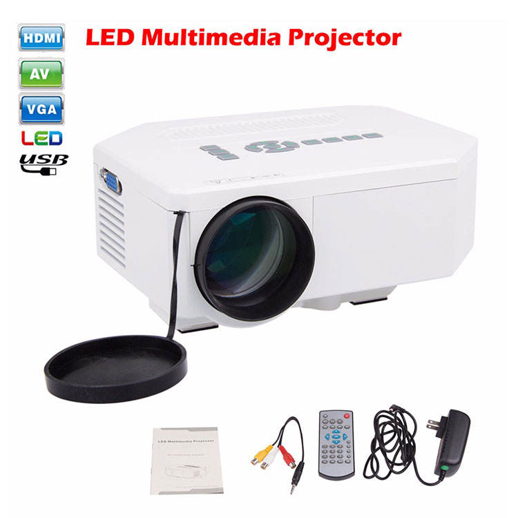 12V dc Multimedia LED Projector mini projector for Video Games TV Movie