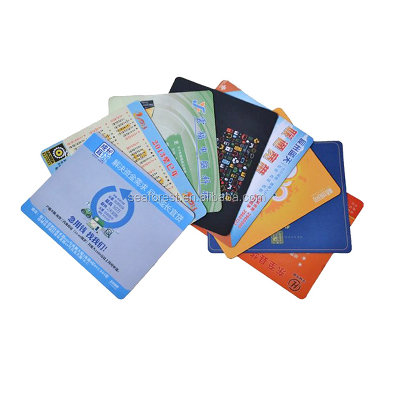 Gratis sample custom size office polyester rubber mouse pads voor promotie