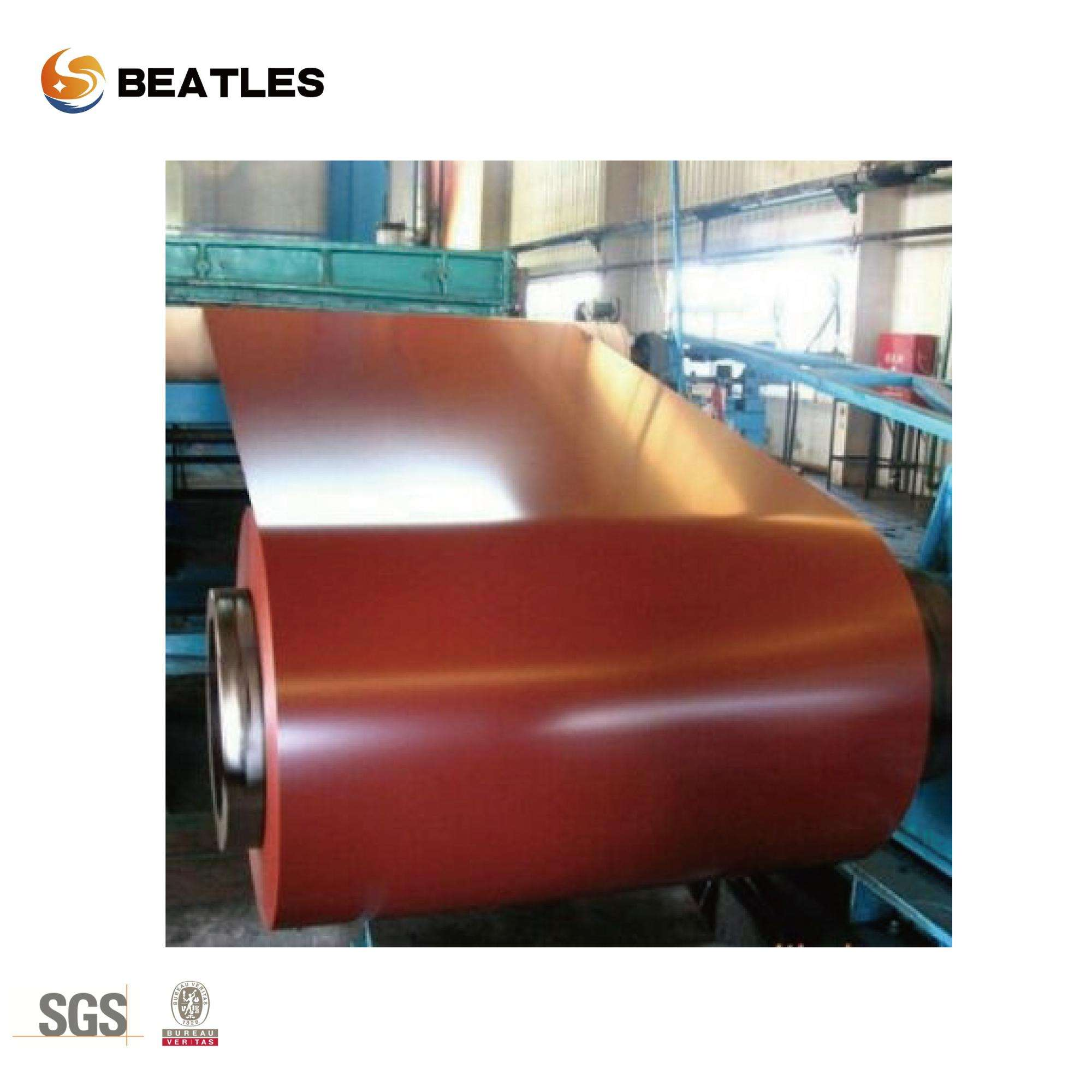 Building cheap Structure carbon steel PPGI Color Coated Zinc Surface Steel Coil roofing Raw construction Materials