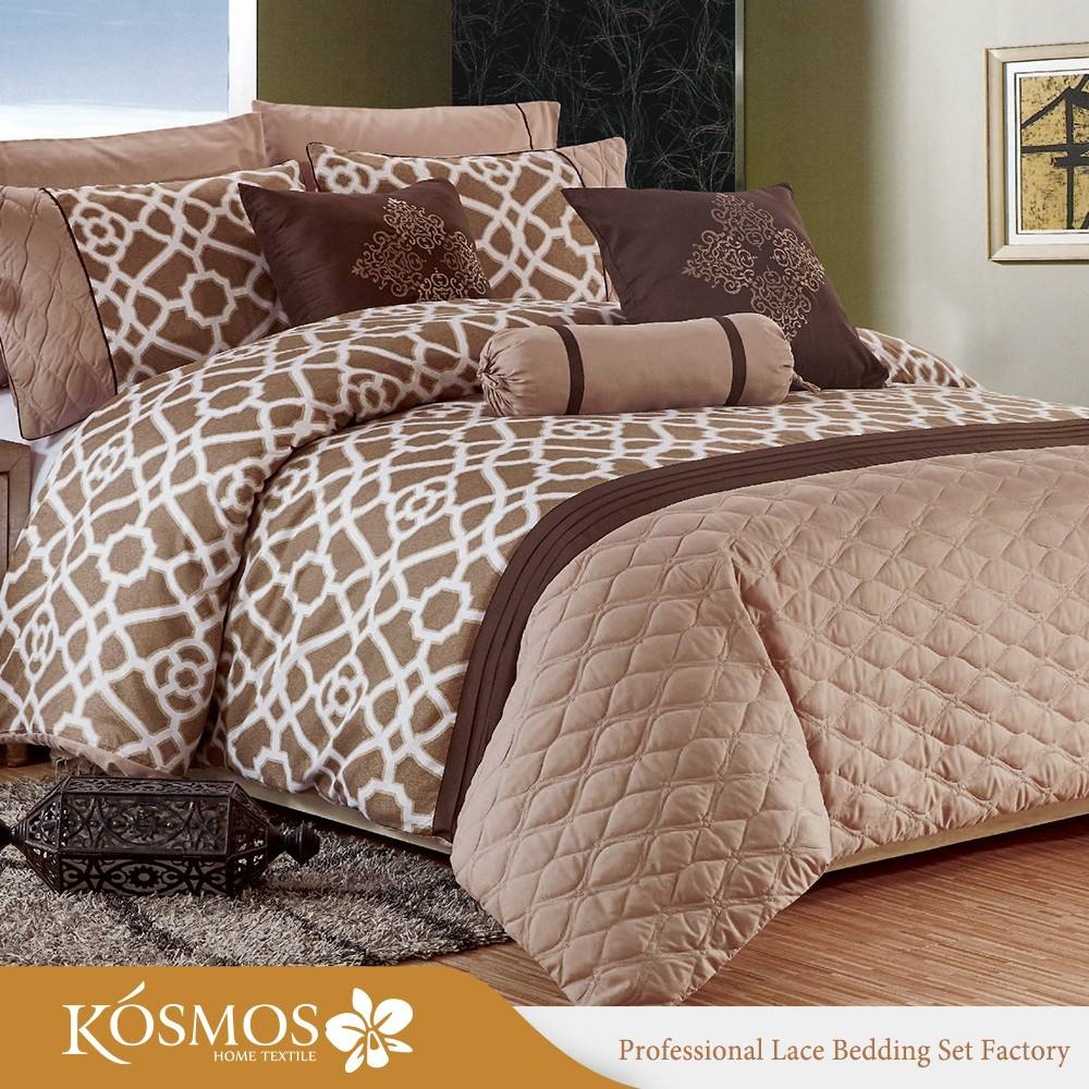 Malaysia winter comforter embroidery microfiber bedding set