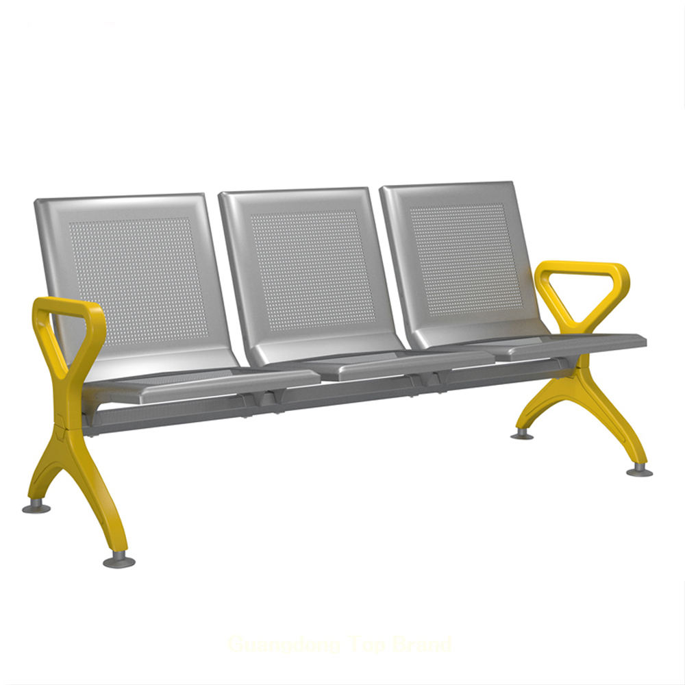 Factory directly airport hospital salon clinic bench 3 seater waiting bench seating gang chair