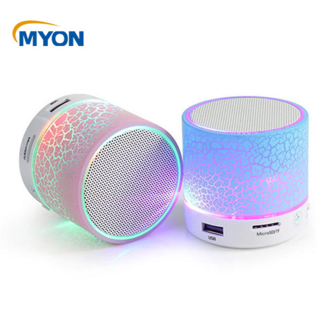 Colorful Light Mini Bluetooth Speaker with FM Radio Portable Easy Carry Pocket Music Box Speaker