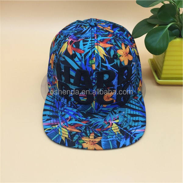 Hawaii stile di stampa 3D ricamo hard rock hip hop cappello