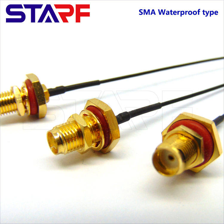 STA Waterproof IP67 SMA Female Crimp Cable Connector for 1.13mm RG174 178 316 Cable