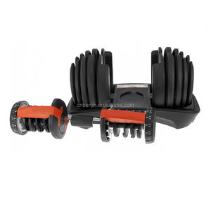 Adjustable Dumbbell Weight Set 52.5lbs Pair Kebugaran Latihan Gym
