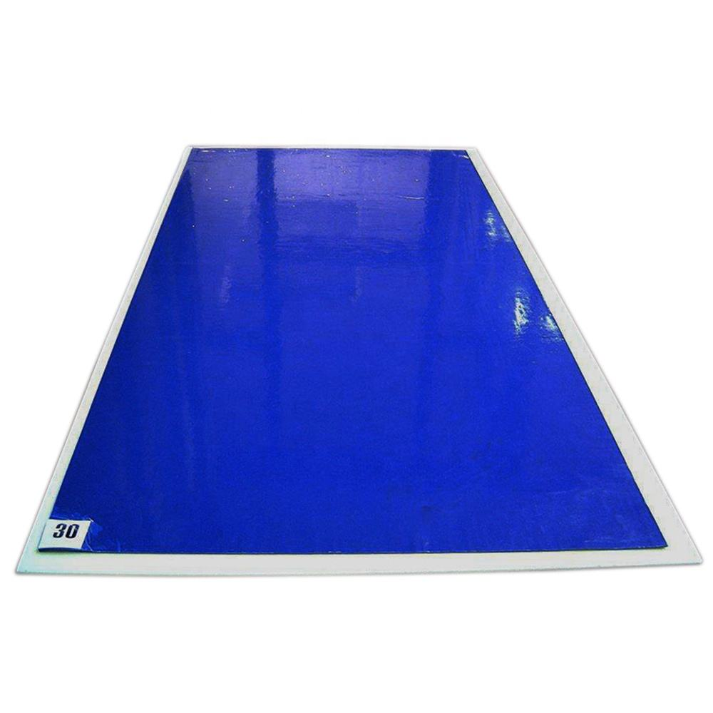 Made in China Cleanroom 60cmX90cm Blue PE Disposable Cleaning Dust Sticky Mat