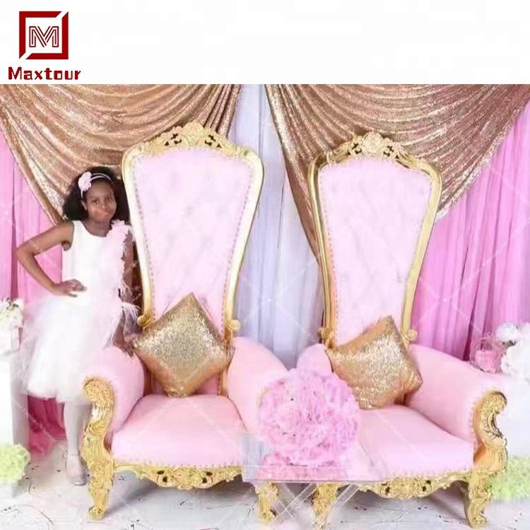 queen and king wedding throne chair