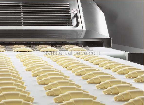 Industrial unfilled filled Swiss Croissant prodcution line